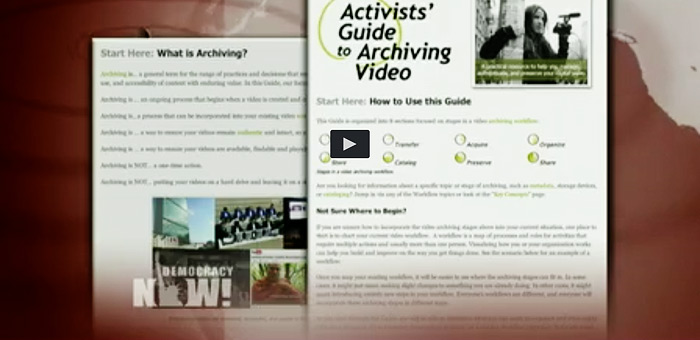 Democracy Now Video Still WITNESS Archiving