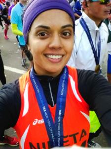 First time marathoner Niketa Kulkarni supported WITNESS in the 2014 marathon.