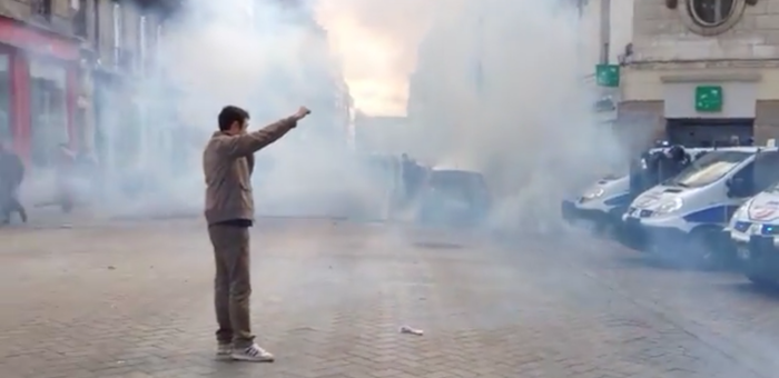 French Clash with Police in Nantes 700x340